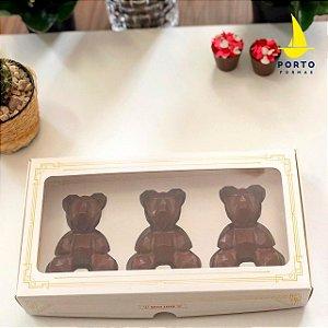 Caixa Urso Geométrico Baby com 5 un. Porto Formas Rizzo Confeitaria