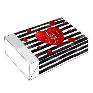 Caixa Divertida Coração Listra 6 doces - Ref. 2368 - 10 unidades - Erika Melkot Rizzo Confeitaria