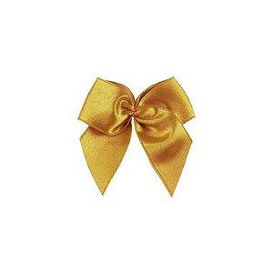 Laço Cetim Gordinho - Dourado - 50 unidades - Rizzo