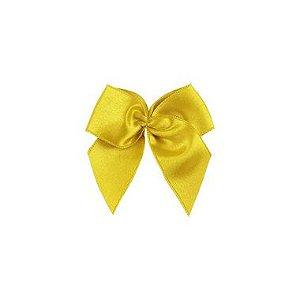 Laço Cetim Gordinho - Amarelo - 50 unidades - Rizzo