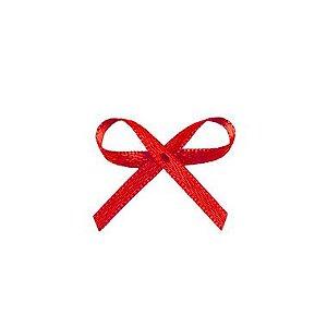 Laço Cetim Mosquitinho - Vermelho - 100 unidades - Rizzo