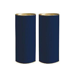 Lata para Presente G 27x10cm Azul Marinho - 01 unidade - Rizzo