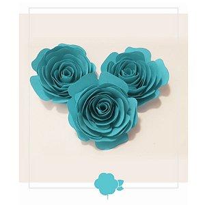 Topo de Bolo Rosas Tiffany P 3u - Rizzo Confeitaria