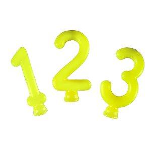 Vela Amarelo Neon  - 01 Unidade - Festcolor - Rizzo