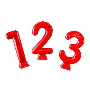 Vela Metallic Vermelho  - 01 Unidade - Festcolor - Rizzo