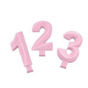 Vela Candy Rosa - 01 Unidade - Festcolor - Rizzo