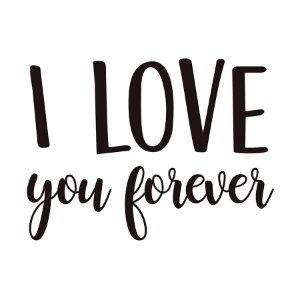 Transfer Para Balão Lettering Preto - I Love You Forever - 01 Unidade - Cromus Balloons - Rizzo