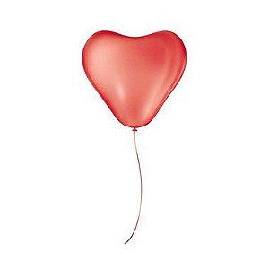 Balão Látex Coração - Vermelho - São Roque - Rizzo