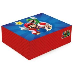 Cesta na Caixa Super Mario - 33x23x10cm - 01 unidade - Cromus - Rizzo