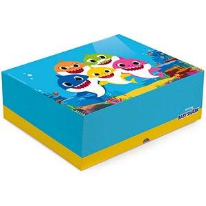 Cesta na Caixa Baby Shark - 33x23x10cm - 01 unidade - Cromus - Rizzo