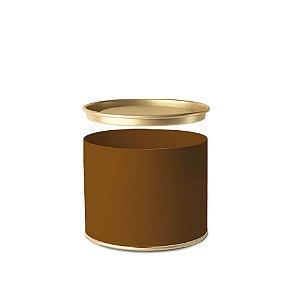 Lata para Bombons Composê Listras Ouro Horizontal - 01 unidade - Cromus - Rizzo