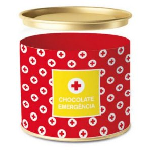 Lata para Bombons Emergência Chocolate - 01 unidade - Cromus - Rizzo