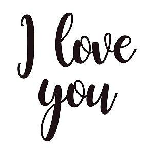 Transfer Para Balão Lettering Preto - I Love You - 01 Unidade - Cromus Balloons - Rizzo