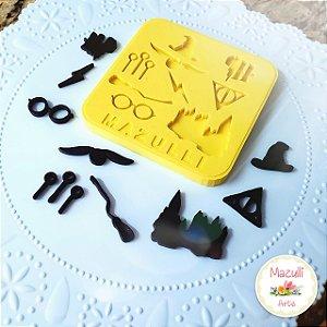 Molde Silicone Kit Harry Potter Cod. 2269 Mazulli Rizzo Confeitaria