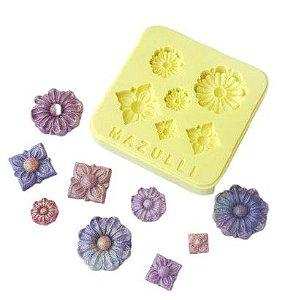 Molde Silicone Flores e Jóias Cod. 2262 Mazulli Rizzo Confeitaria