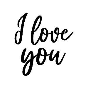 Transfer Para Balão Lettering - I Love You - 01 Unidade - Rizzo