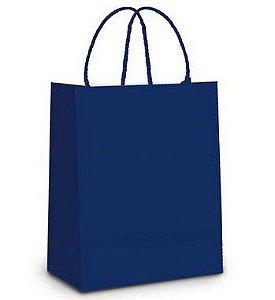 Sacola de Papel M Azul Marinho - 26x19,5x9,5cm - 10 unidades - Cromus - Rizzo