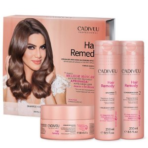 Cadiveu Hair Remedy Kit Condicionador + Shampoo + Mascara 250ml