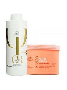 Wella Kit Oil Reflection Shampoo 1LT + Invigo Nutri-Enrich Máscara 500ML
