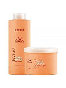 Wella Invigo Nutri-Enrich Kit Shampoo 1LT + Mask 500ML