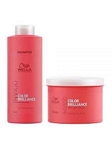 Wella Invigo Color Brilliance Kit Shampoo 1LT + Mask 500ML