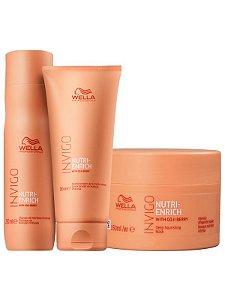 Wella Kit Invigo Nutri-Enrich (Shampoo 250ML + Condicionador 200ML + Máscara 150ML)