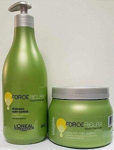 Loreal Force Relax Kit (Shampoo 500ML + Máscara 500ML)