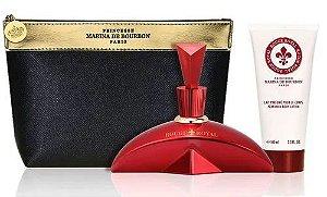 Kit Rouge Royal Marina de Bourbon Eau de Parfum 100ml + Loção Corporal 100ml + Nécessaire Feminino