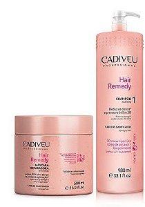 Cadiveu Hair Remedy Shampoo 980ml + Máscara 500ml