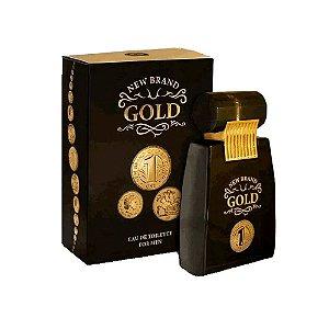 New Brand Eau de Toilette Gold for Men 100ml