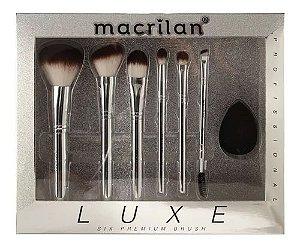 Macrilan LUXE Kit C/ 6 Pinceis ED002