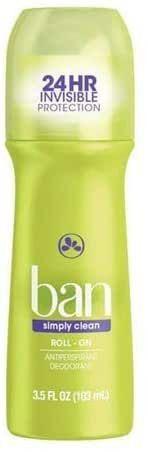 Ban Desodorante Roll SIMPLY CLEAN 103ML