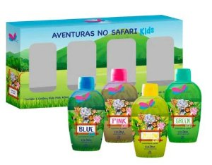 DELIKAD QUART MINI COL KIDS SAFARI 4 X 60 ML