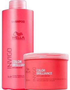 Wella Kit Color Brilliance Shampoo 1lt + Máscara 500g