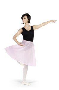 Saia de Ballet Adulto Longa em Crepe Ref 12014