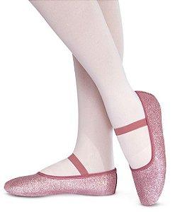 d3472b8bcd Sapatilha de Ballet Meia Ponta em Korino com Glitter Capezio Ref 002kgb