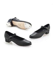Sapato para Sapateado em Korino com Fivela e Salto Capezio Ref 32T