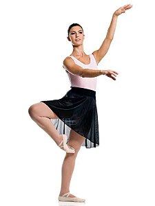 Saia de Ballet em Jersey Cós em Lycra Infantil Capezio Ref 12008i