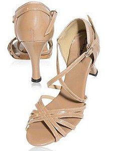 Sandália para Danca de Salao Salto 5.5cm em Verniz Capezio CJ13V