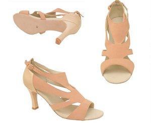 Sandália para Dança de Salão Salto 7cm com Recortes Vazados Capezio CJ30