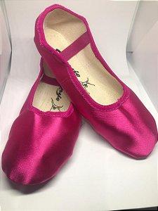 Sapatilha de Ballet Pink Meia Ponta Spring Shoes Cetim Capezio Ref 15