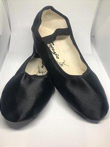Sapatilha de Ballet Preta Meia Ponta Spring Shoes Cetim Capezio Ref 15