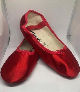 Sapatilha de Ballet Vermelha Meia Ponta Spring Shoes Cetim Capezio Ref 15