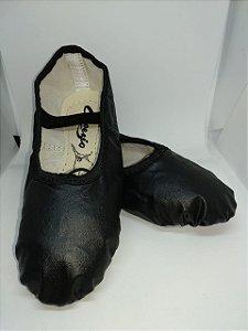 Sapatilha de Ballet Preta Meia Ponta Korino Capezio Ref 002k