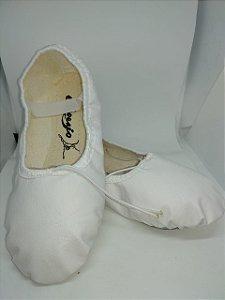 Sapatilha de Ballet Branca Meia Ponta Korino Capezio Ref 002k