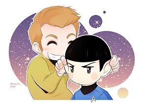 [Pôster] Spock & Kirk - Star Trek
