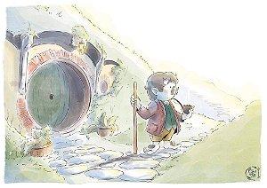 [Pôster]  Senhor dos Anéis (Bilbo Bolseiro)