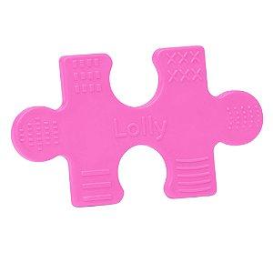 Mordedor Quebra-Cabeça NET, lavável atóxico, indicado às crianças acima de 4 (quatro) meses na cor rosa