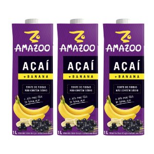 Kit AMAZOO ACAI BANANA 03 x 1000ML