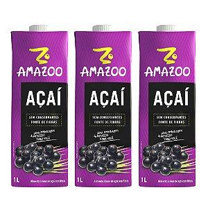 kit AMAZOO ACAI TRADICIONAL 03 x 1000ML